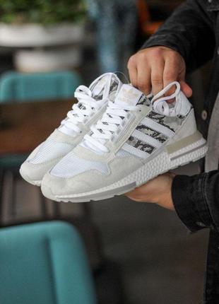 ❤ женские текстильные кроссовки adidas zx rm white camo❤