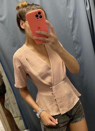 Пудрова блуза topshop s