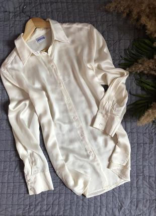 Шелковая базовая блуза