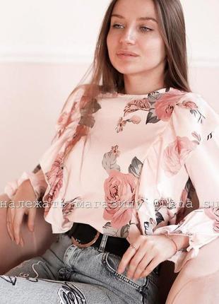 Стильная блуза цветочный принт