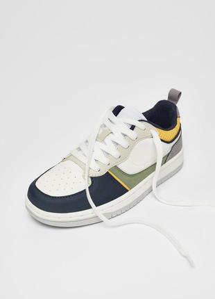 34 размер новые фирменные кеды кроссовки с деталями разных цветов зара zara