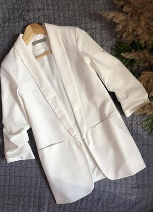 Удлиненный пиджак блейзер