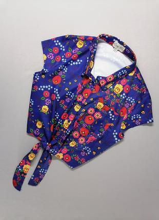🌷 яркая укороченная блуза lindy bop
