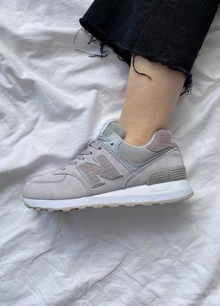 ❤ женские серые замшевые кроссовки new balance 574 grey ❤