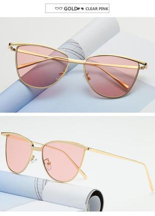 Солнцезащитные розовые очки кошки