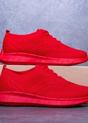 Мужские кроссовки без бренда красные, кроссовки летние пантера сетка