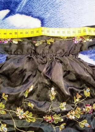 Топ шёлковый с вышивкой с открытой спиной therapy, xxs-s4 фото