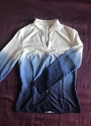 Классная фирменная рубашка амбре