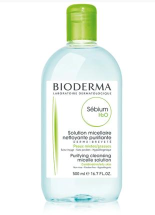 Міцелярний лосьйон для обличчя bioderma sebium h2o