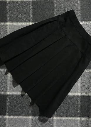 Детская черная  юбка на девочку f&f 14-15 лет