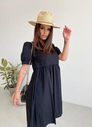 Женское коттоновое платье свободного кроя