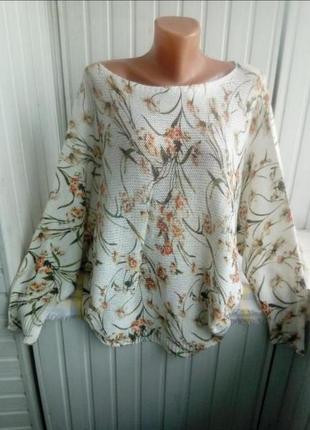 Итальянский натуралтный свитер джемпер большого рвзмера батал