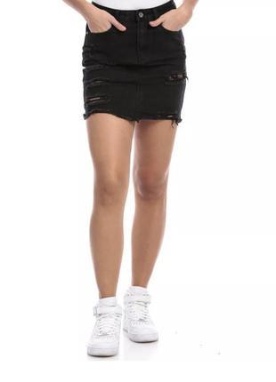 Чёрная мини юбка misguided