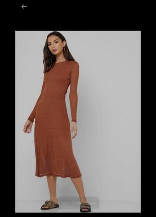 Стильное миди платье 12 размер сукня міді