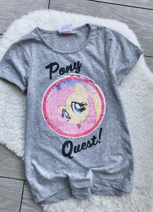 Футболка паетки-перевертыши my little pony