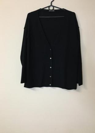 Шёрстной кардиган свитер hemisphere 100% шерсть