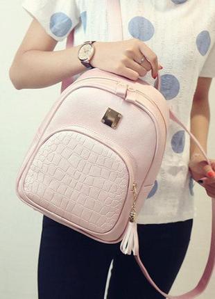 Кожаный женский рюкзак экокожа