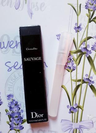 Sauvage мужской пробник- спрей 10мл, духи, парфюм, туалетная вода, парфуми