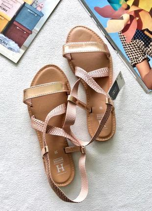 Босоножки сандали золотистые, house, финляндия