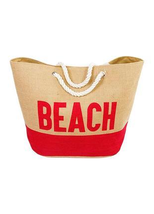 Женская яркая пляжная сумка красного цвета legs l 101 bag beach