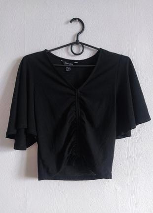 Стильная фактурная блуза топ на стяжке