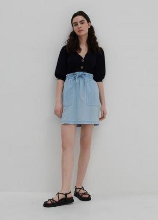 Мини джинсовая юбка новая