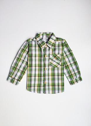 Детская новая рубашка в клетку wit 9-12 мес