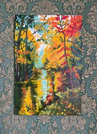 Картина маслом пейзаж 30×45