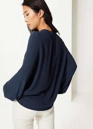 Свободная блуза вышиванка с вышивкой m&s2 фото