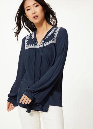 Свободная блуза вышиванка с вышивкой m&s