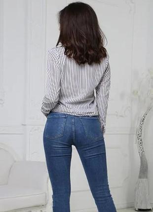Женская блузка в полоску2 фото