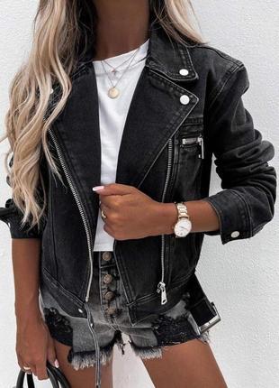 Джинсовая куртка косуха, фабричный китай