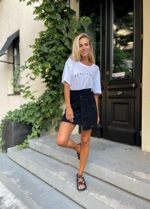 Женская джинсовая юбка турция