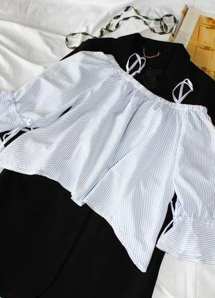 Блуза/рубашка с плеч с объемными рукавами glass doll