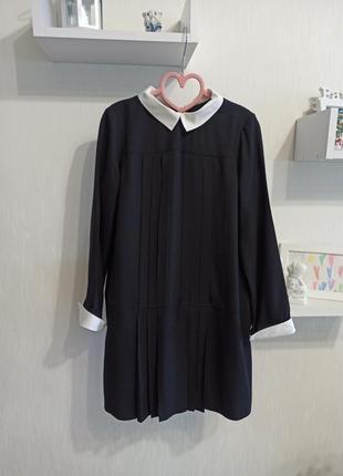 Школьное платье, платье с длинным рукавом в школу