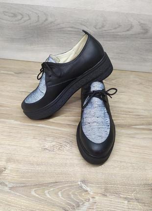 Кожаные туфли женские 37 и 38 р от производителя. / шкіряні туфлі
