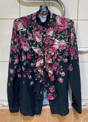 Рубашка, блуза в цветочный принт sassofono