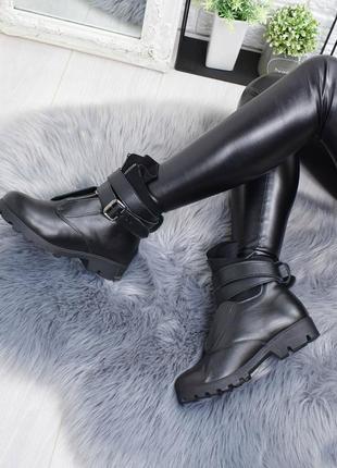 36-41 рр деми/зима ботинки низкий ход натуральная кожа
