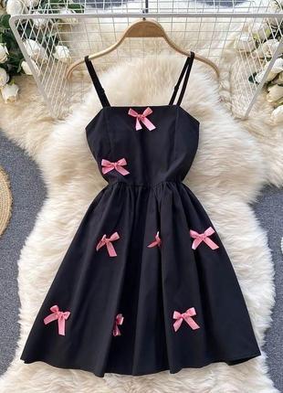 Женское платье бантики