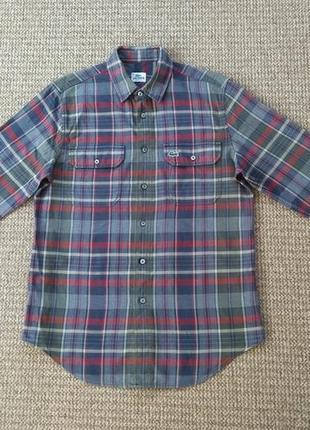 Lacoste рубашка фланелевая оригинал (m-l)
