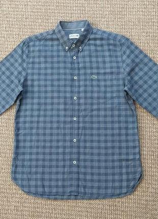 Lacoste рубашка regular fit оригинал (m-l)
