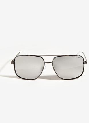 Мужские брендовые солнцезащитные очки с зеркальными стеклами