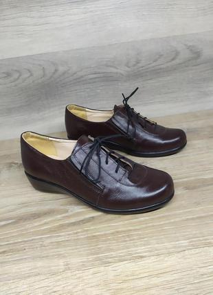 Кожаные туфли на танкетке 36 размера от производителя