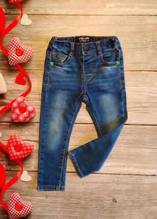 Классические джинсы next унисекс на 12-18 месяцев