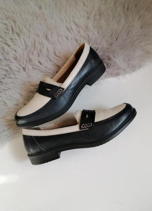 Женские кожаные мокасины туфли лоферы 37р