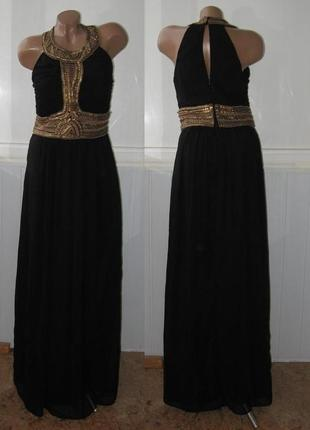 Платье в греческом стиле (расшито пайетками и бисером)