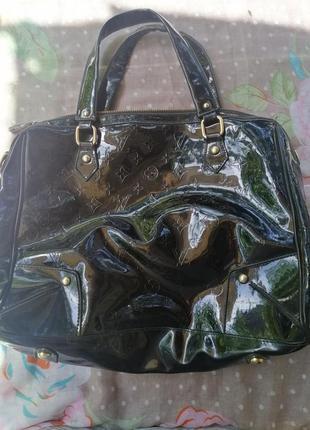 Большая лаковая сумка. обмен