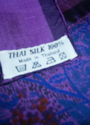 Красивый платок из натурального шелка с ручной росписью.7 фото