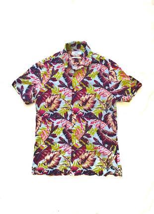 Женская гавайка летняя рубашка швэдка