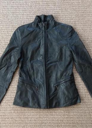 Kenneth cole женская кожаная куртка оригинал (xs)